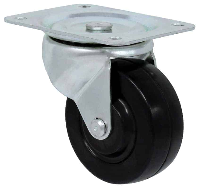 4″ Swivel Hard Rubber Top Plate 4″ x 5″