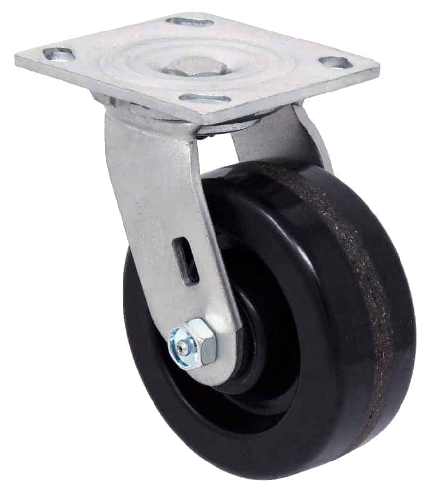 4″ Swivel Phenolic With Brake Top Plate 4 x 4-1/2