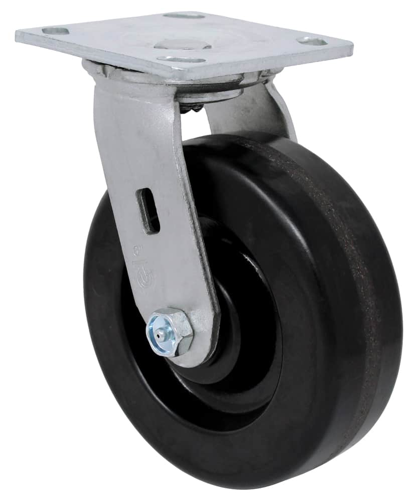 Swivel Phenolic Caster with 4 x 4-1/2 Top Plate
