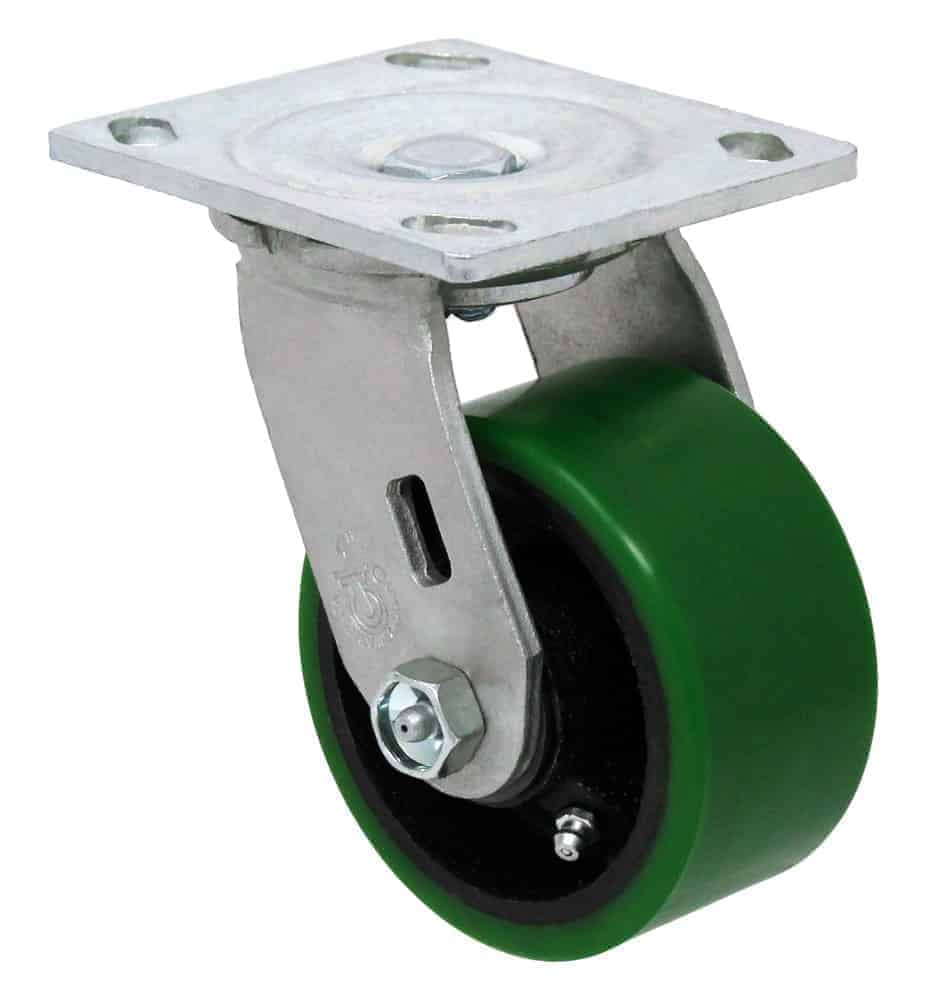4″ Swivel Poly/Steel With Brake Top Plate 4 x 4-1/2