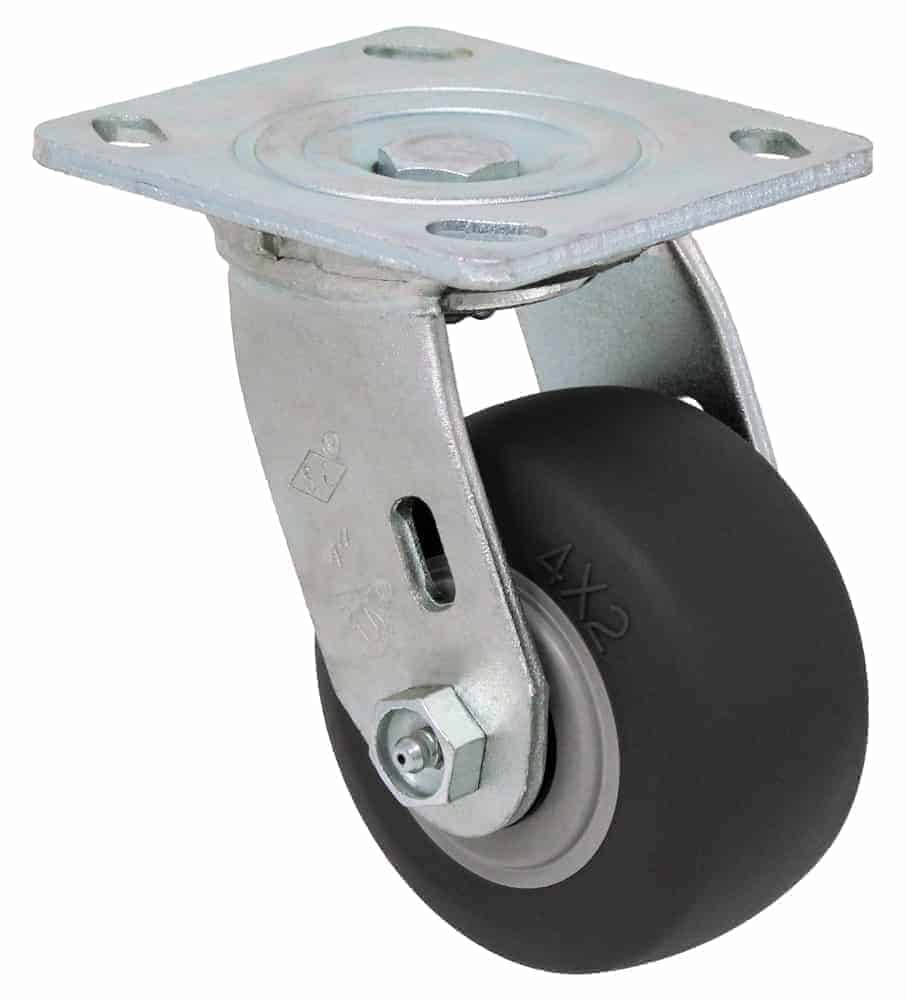 4″ Swivel Non Marking With Brake Top Plate 4 x 4-1/2