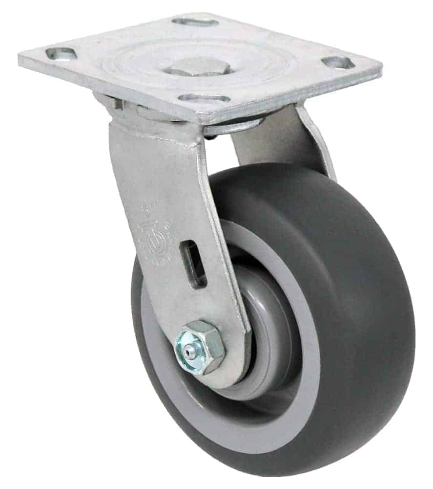 4″ Swivel Non Marking Top Plate 4 x 4-1/2