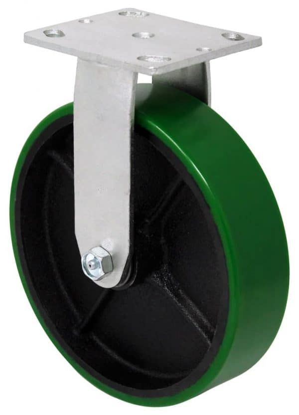 """Rigid Poly Steel Caster with 4"""" x 4-1/2"""" Top Plate"""