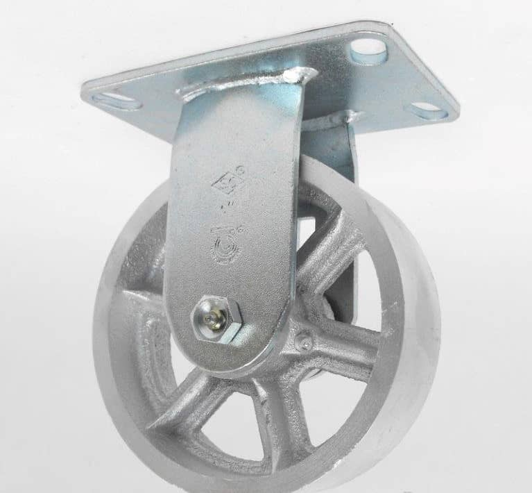 "Swivel Steel Caster with 4-1/2"" x 6-1/4"" Top Plate"
