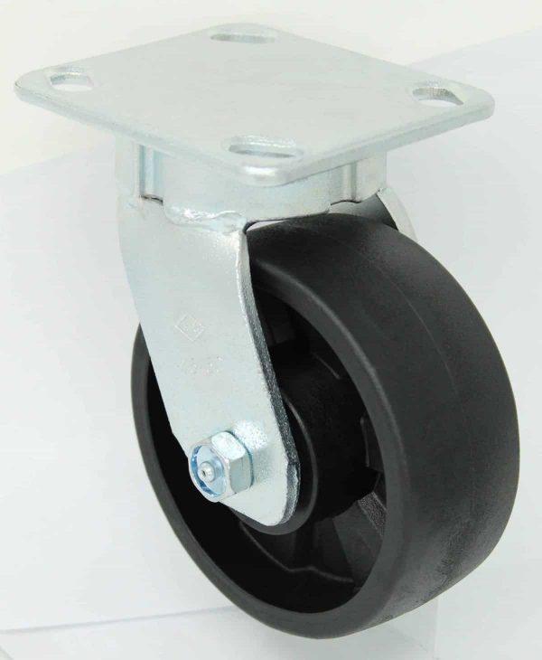 Swivel Kingpinless Glass Filled Nylon Caster 4 x 4-1/2 Top Plate