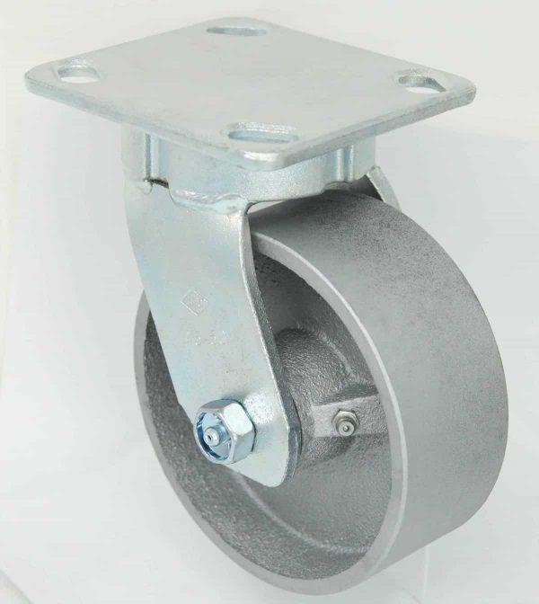 Swivel Kingpinless Steel Caster 4 x 4-1/2 Top Plate