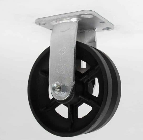 Rigid V-Groove Caster 4-1/2 x 6-1/4 Top Plate