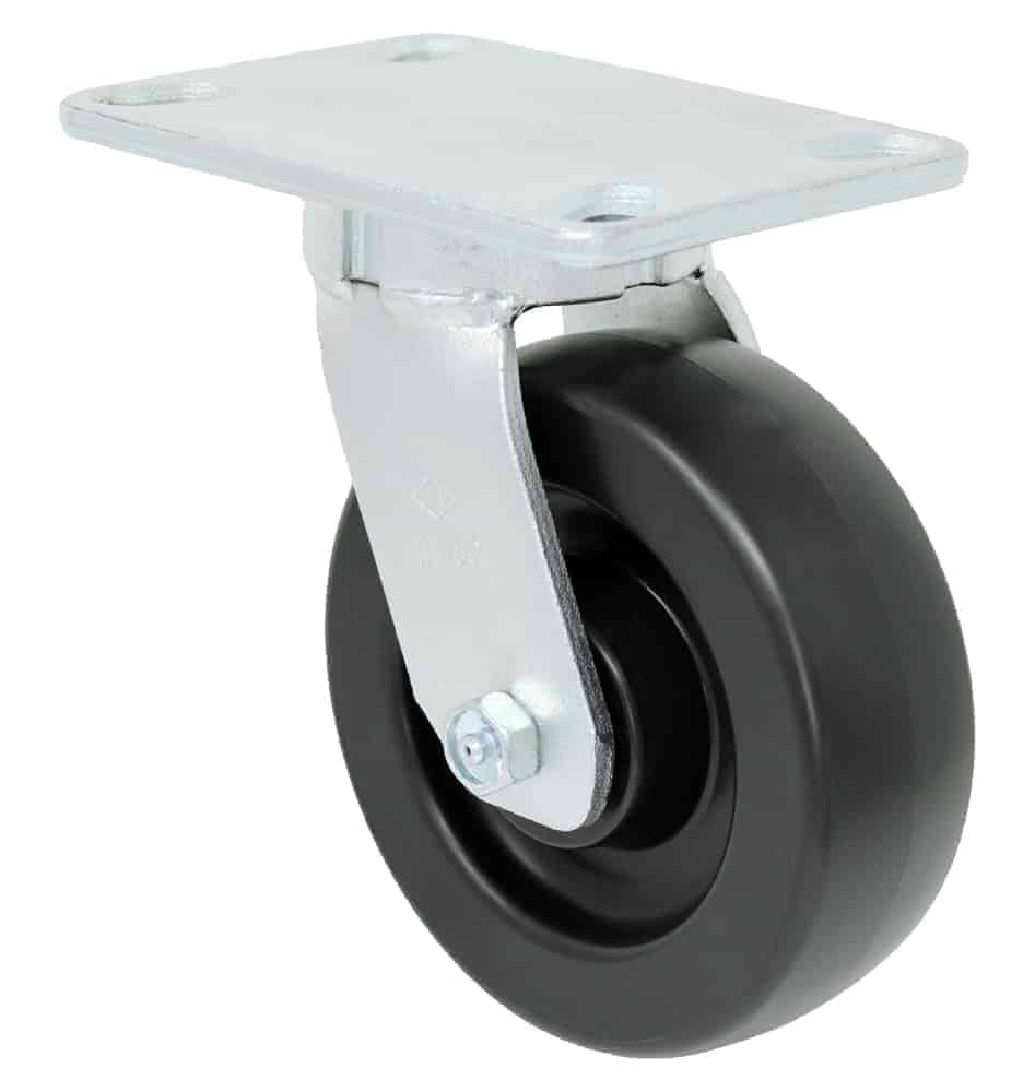 8″ Swivel Polyolefin Kingpinless Top Plate 4-1/2 x 6-1/4