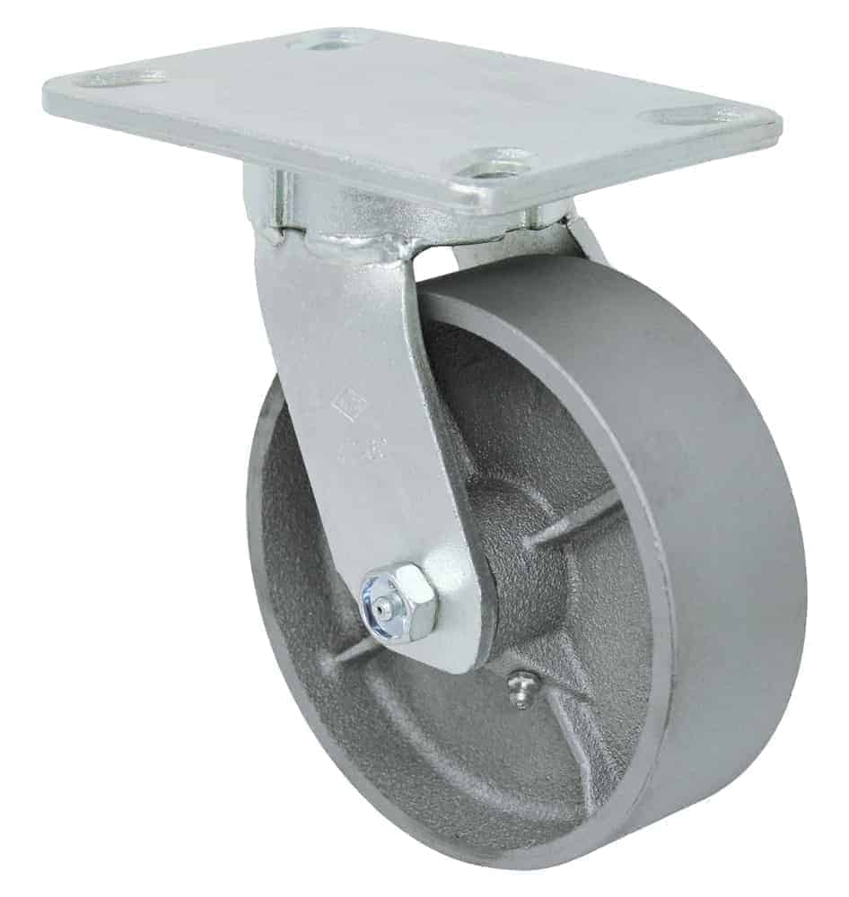 8″ Swivel Steel Kingpinless Top Plate 4-1/2 x 6-1/4