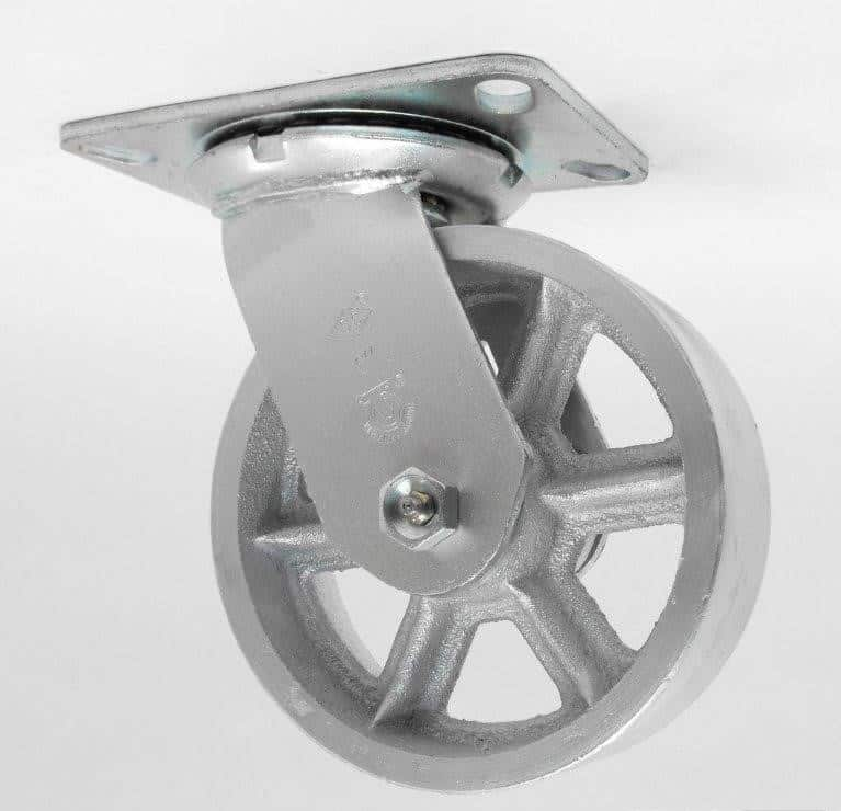 "Swivel Steel Caster with Top Plate 4-1/2"" x 6-1/4"""