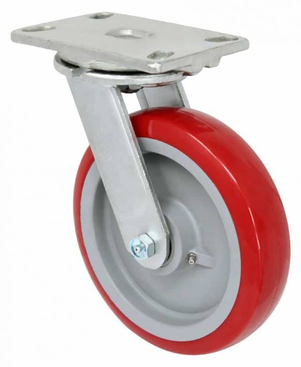 Swivel Polyurethane on Polyolefin Caster 4-1/2 x 6-1/4 Top Plate