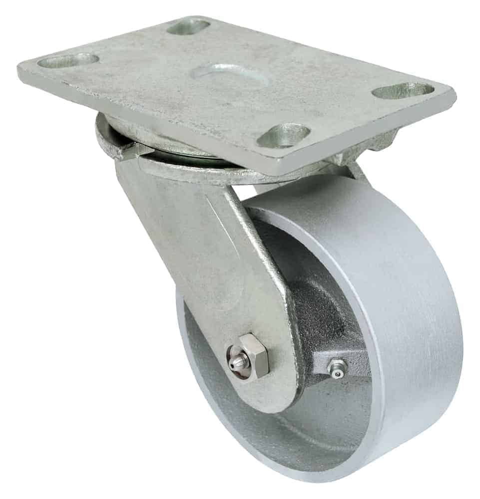 5″ Swivel Steel Top Plate 4-1/2 x 6-1/4 1000 Lbs Capacity