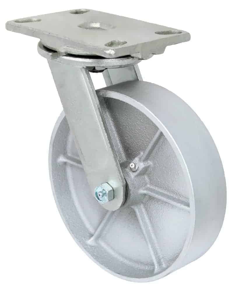 8″ Swivel Steel Top Plate 4-1/2 x 6-1/4 1400 Lbs Capacity