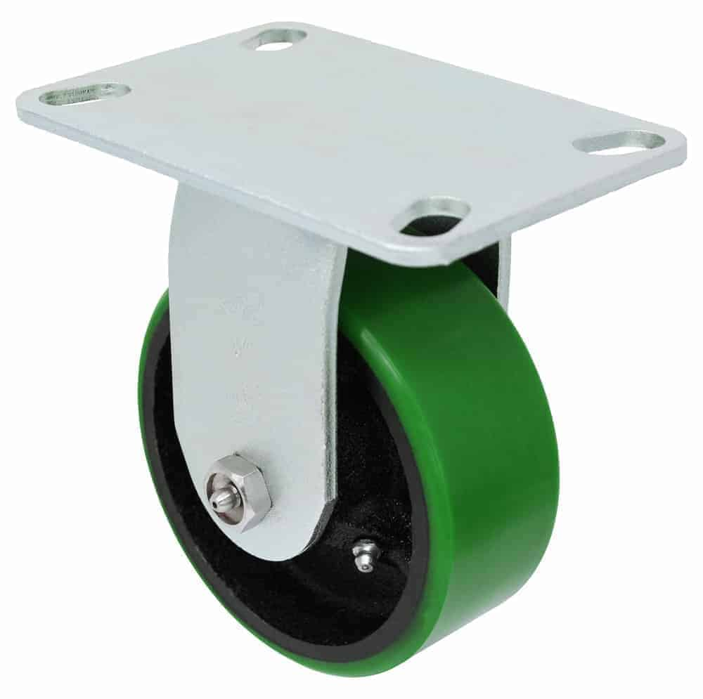 Rigid Polyurethane Steel Caster 4-1/2 x 6-1/4 Top Plate