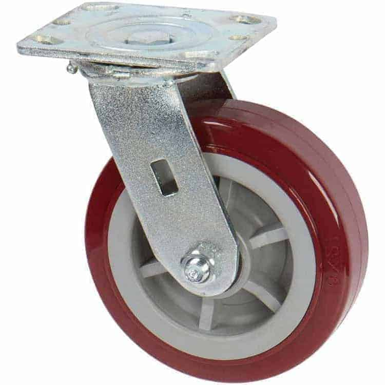 4″ Swivel Poly Poly Top Plate 4″ x 4-1/2″