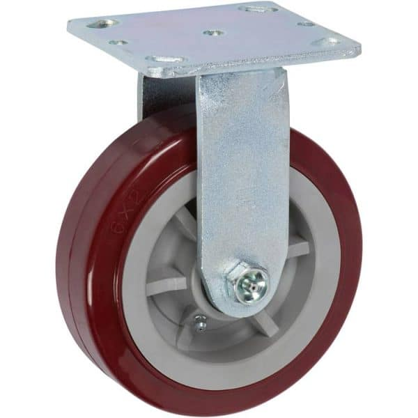 """Rigid Poly Poly Caster with 4"""" x 4-1/2"""" Top Plate"""