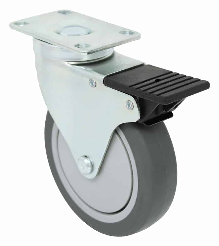 4″ Swivel Poly-Pro Top Plate 2-3/8 x 3-5/8 Total Lock