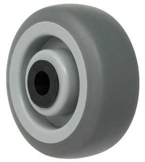 4″ Thermoplastic Rubber Wheel With 3/8″ Precision Ball Bearing 1-9/16″ Hub 250 Lbs Capacity