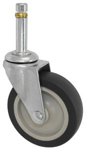 2-1/2″ Hard Rubber With Brake 7/16 Grip Ring Stem