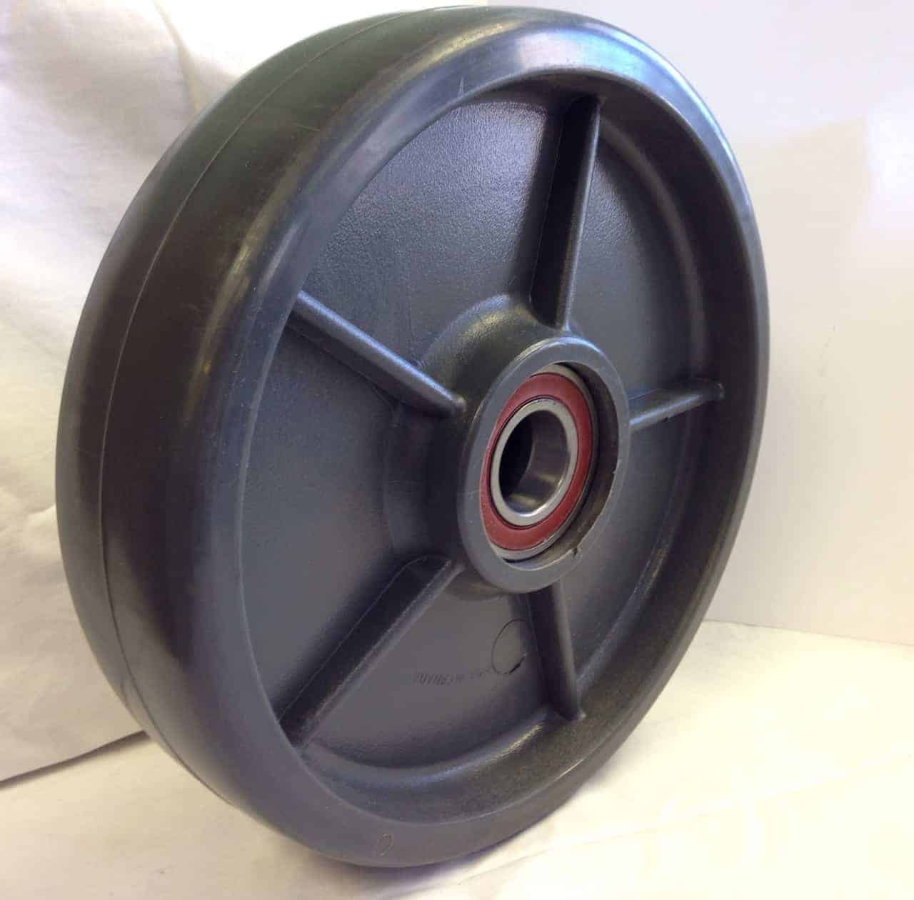 10″ Solid Elastomer Wheel With 3/4″ Precision Sealed Ball Bearing 2-3/4 Hub 1800Lbs Capacity