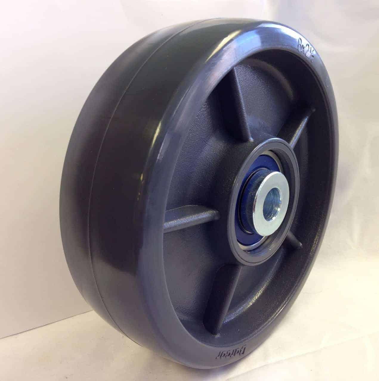 6″ Solid Elastomer Wheel With 3/4″ Precision Sealed Ball Bearing 2-3/4 Hub 1500 Lbs Capacity