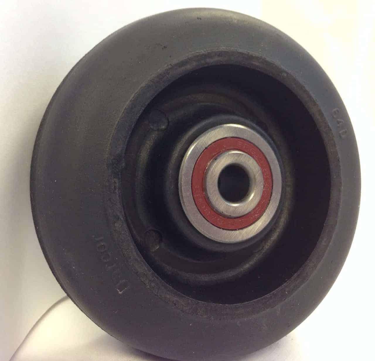 4″ Neoprene Wheel With 3/8 Precision Sealed Ball Bearing 1-1/2 Hub 225 Lbs Capacity
