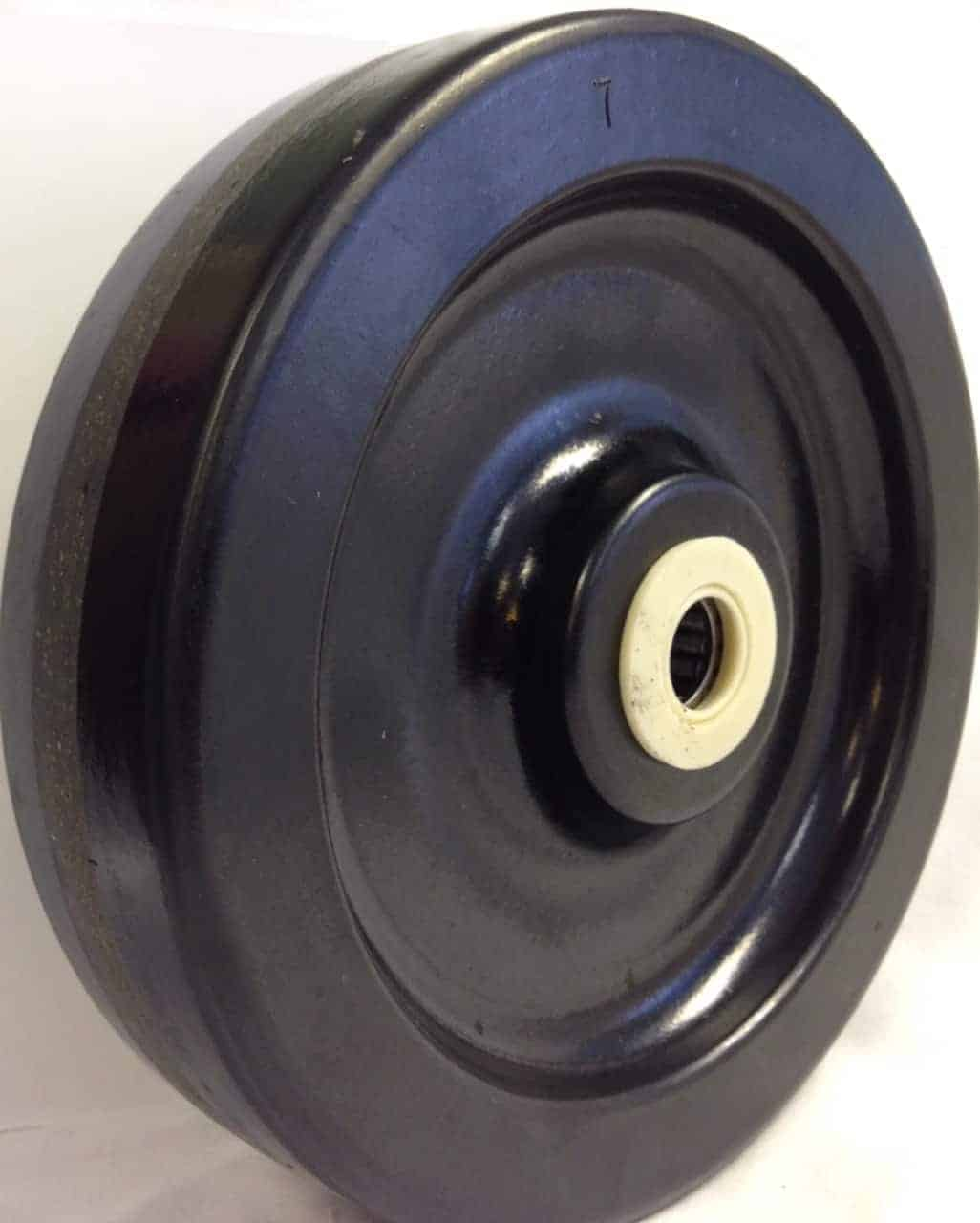 8″ Phenolic Wheel With 2-3/16″ Hub 3/4″ Roller Bearing 1400 Lbs Capacity