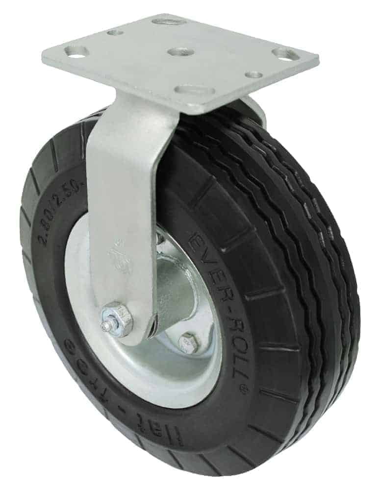 8″ Rigid Ever-Roll Caster 4 x 4-1/2 Top Plate