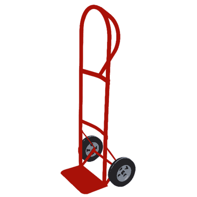 50″ Hand Truck With Semi-Pneumatic Wheels